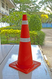 Traffic  cone all road in Thailand Royalty Free Stock Photo