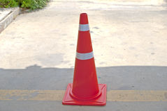 Traffic  cone all road in Thailand Royalty Free Stock Photos