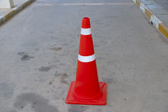 Traffic  cone all road in Thailand Royalty Free Stock Image