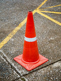 Traffic cone on the asphalt road Stock Image