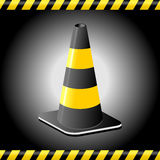 Traffic cone background Royalty Free Stock Photos