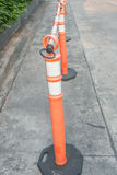Traffic cone on concrete road Stock Images