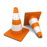 Traffic cone. 3d illustration  on white background Stock Photo