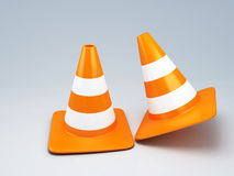 Traffic cone 3d. Image of orange traffic cone 3d illustration Stock Photos