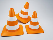 Traffic cone 3d Stock Images