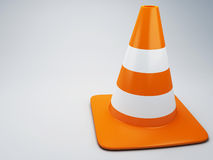 Traffic cone 3d Royalty Free Stock Photo
