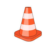 Traffic cone. Drawing of a traffic cone Royalty Free Stock Photo