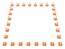 Traffic Cone Frame Royalty Free Stock Images