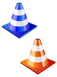 Traffic cone icon Royalty Free Stock Photo
