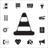 Traffic cone icon. Detailed set of fire guard icons. Premium quality graphic design sign. One of the collection icons for websites. Web design, mobile app on Royalty Free Stock Photography
