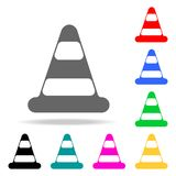 Traffic cone icon. Element firefighters multi colored icons for mobile concept and web apps. Icon for website design and developme. Nt, app development. Premium Royalty Free Stock Images