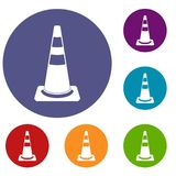 Traffic cone icons set Stock Photo