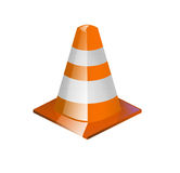 Traffic cone illustration Royalty Free Stock Photos