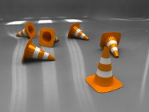 Traffic cone inside Royalty Free Stock Images