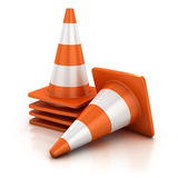 Traffic cone isolated Royalty Free Stock Photo