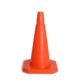 Traffic cone isolated. Orange traffic cone isolated royalty free stock images