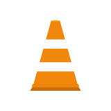 Traffic cone isolated. Icon  illustration graphic design Royalty Free Stock Photos