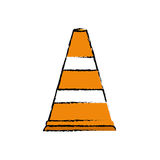 Traffic cone isolated. Icon vector illustration graphic design Stock Image