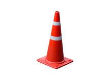 Traffic cone isolated on white background Royalty Free Stock Photo