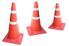 Traffic cone isolated on white background. Traffic cone isolated on a white background Stock Photo