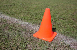 Traffic cone at Khonkaen Foot ball Academy Stock Photo