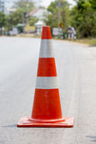 Traffic cone placed on the road Royalty Free Stock Image