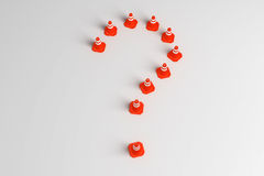 Traffic cone question mark Royalty Free Stock Photography