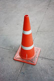 TRAFFIC CONE. The TRAFFIC CONE on the road Stock Images