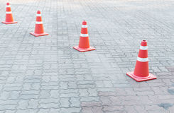 A Traffic cone on the road Stock Photos