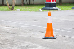 A Traffic cone on the road Royalty Free Stock Photography