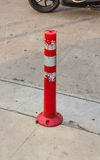 Traffic cone on the road Stock Photo