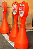 Traffic cone on the road in Korea. Royalty Free Stock Photography