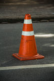 Traffic cone on the road Stock Photography