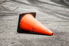 Traffic Cone on The Road Stock Images