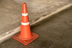 Traffic cone on road Royalty Free Stock Photo