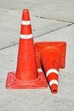 Traffic cone on road Royalty Free Stock Photos