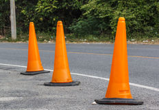 Traffic cone in the road Royalty Free Stock Photos