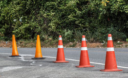 Traffic cone in the road Royalty Free Stock Photography