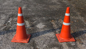 Traffic cone on the road Royalty Free Stock Photo