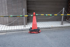The traffic cone on a road Stock Photography