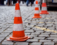 Traffic cone sett Stock Photo