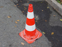 Traffic cone sign Stock Photo