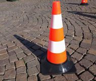 Traffic cone sign Stock Image