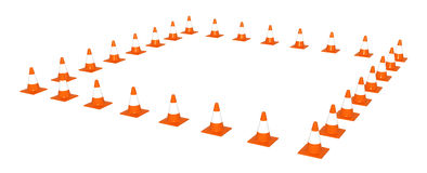 Traffic Cone Square Royalty Free Stock Photo