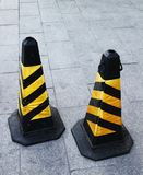 Traffic cone on the street. Traffic cone two pieces on the street Stock Photography