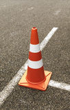 Traffic cone on the street. A traffic cone on the street Stock Images