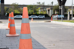 Traffic Cone on street Stock Images