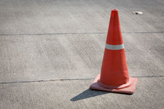 Traffic cone on street used warning sign Royalty Free Stock Images