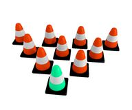 Traffic Cone Triangle Stock Image