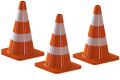 Traffic cone for use roads. Traffic cone for all roads Royalty Free Stock Photo